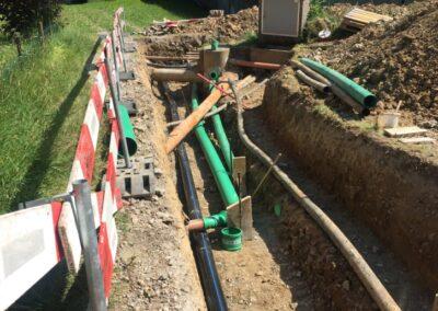 Umlegung Werkleitungen Chloos, Amden