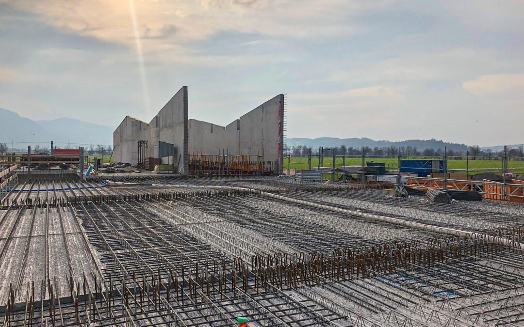 Neubau Werk- und Lagerhalle der Firma H. Mahr AG, 8717 Benken (April 2020)