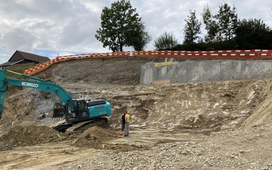 Baustart Mehrfamilienhaus, Oberrainstrasse, 8735 St.Gallenkappel (September 2020)