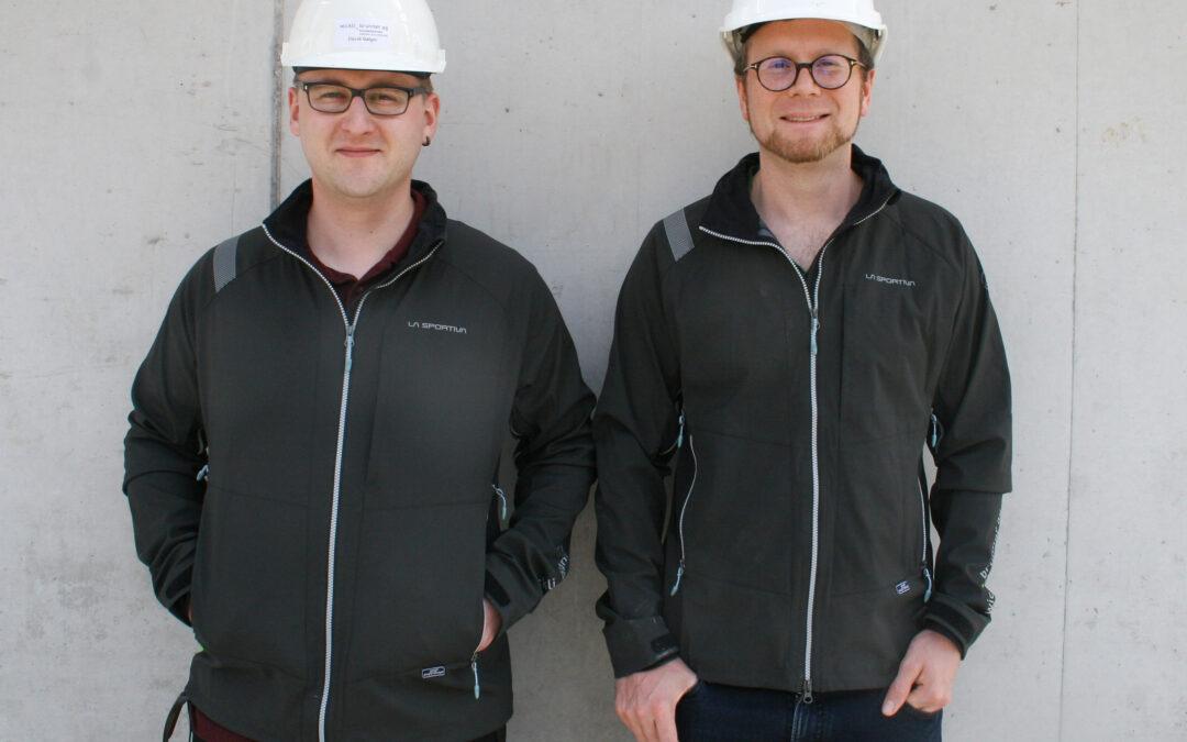 Juni 2021: Wir begrüssen neu in unserem Team David Geiger (links) und Christian Schnyder
